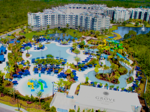 """The Grove Resort<br><label style=""""color:red;font-size:0.6em;"""">From $300.000</label><br><label style=""""font-size:13px;"""">Beautiful 2 and 3 bedroom condos provide 1,265 to 1,544 sq. ft. of living space. Each condo features a spacious living room, full size kitchen, full size washer / dryer, and a screened balcony with water and firework views.</label><br><span style=""""font-size: 16px; font-weight: bold;"""">More Information</span>"""